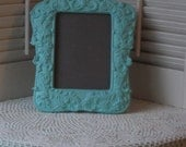 Ornate  Easel Backed Framed in Turquoise Blue