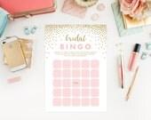 Instant Download - Confetti Shower Bridal Bingo Game Cards