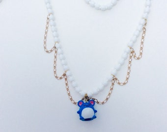 Marill Pokemon Necklace - OOAK - Pokemon Jewelry