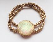 Gold & Opal bead bracelet