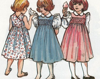 Mary De Pattern / Smocked Dress Pattern / Smocked Jumper Pattern /  Children's Corner  #67