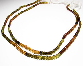 Natural Petro Tourmaline Faceted Rondelle Beads Strand 3mm