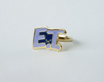 Vintage E.T. the Extra Terrestrial Ring - E.T. Logo
