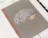 Brain Anatomy Journal. Embroidered Notebook. Anatomical Brain Book. Science Art Journal. Doctor's Gift. Medical Art. Stitch Art. A5 Journal