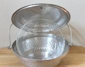 Vintage Nasco Hammered Metal Lidded Bowl and 2-Qt Fire King Casserole Dish