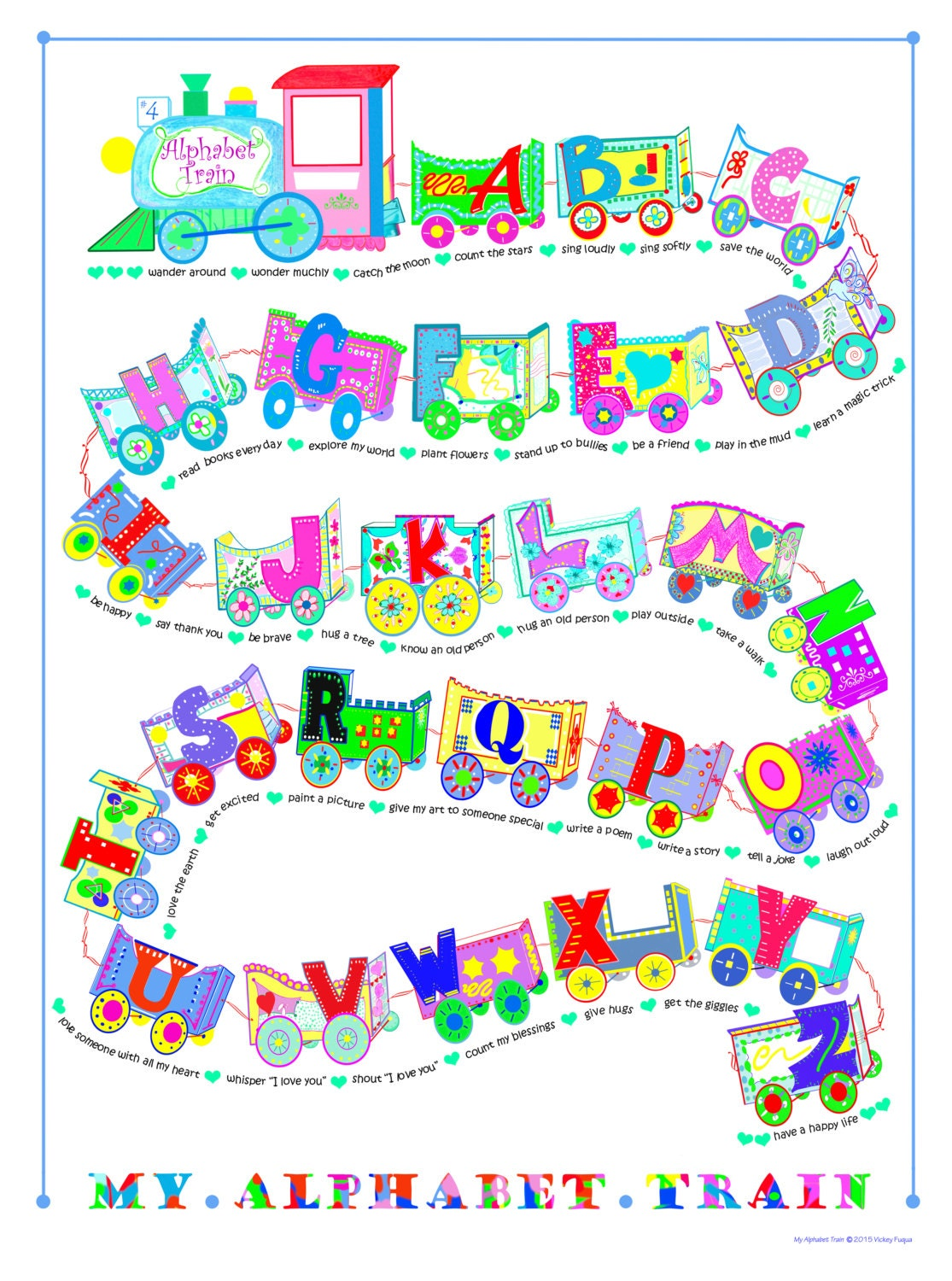 18x24 frame with mat my alphabet train poster 18x24 you place by applestarrstudio