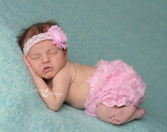 Pink Baby Headbands, Newborn Headband, Pink Lace Headband, Infant Headbands, Headbands for Babies, Headbands for Baby, Baby Girl Headband