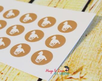 Horse Riding Planner Sticker - round