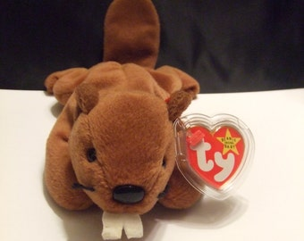 Bucky the Beaver Beanie Babies Collection Original #4016