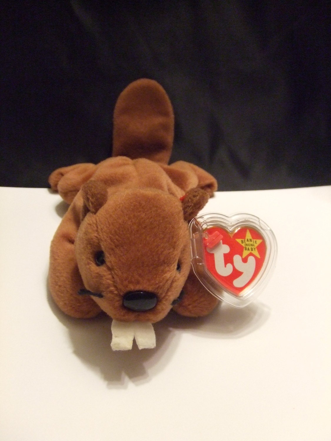 bucky the beaver beanie babies collection original 4016. Black Bedroom Furniture Sets. Home Design Ideas