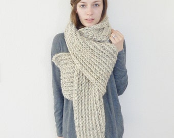 Giant Chunky Knit Scarf // Oversized Scarf // Chunky Scarf // Wool Scarf // THE PATAGONIAN