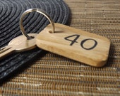Personalised Number Keychain  Oak Wood Keychain  Locker Keychain  Safe Keychain  Gym  Bike   Home  Office  Business  Hotel