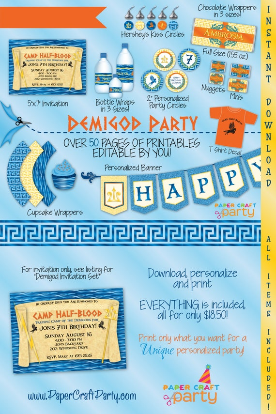 Percy Jackson Birthday Invitations Ivoiregion