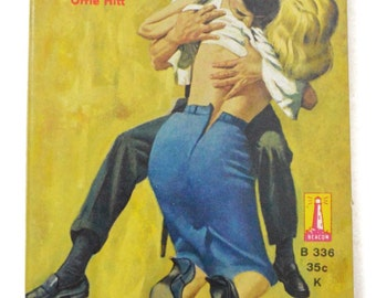 Vintage 60s Untamed Lust By Orrie Hitt Sleaze Pulp Novel Book