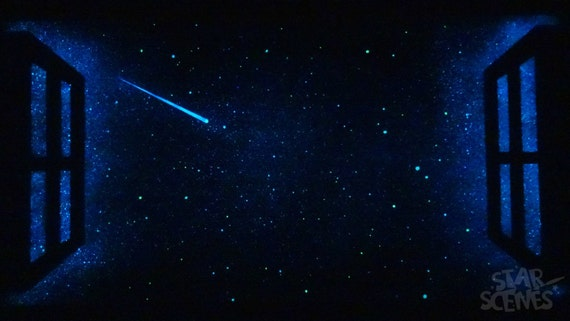 Star Window With Shooting Star That Glows In The Dark