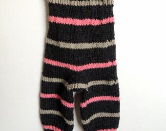 Knit Longies, Wool Baby Pants -wool longies, cloth diaper cover, newborn cloth diaper, toddler longies, wool soaker, baby leggings