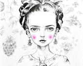 Frida Kahlo - mini print