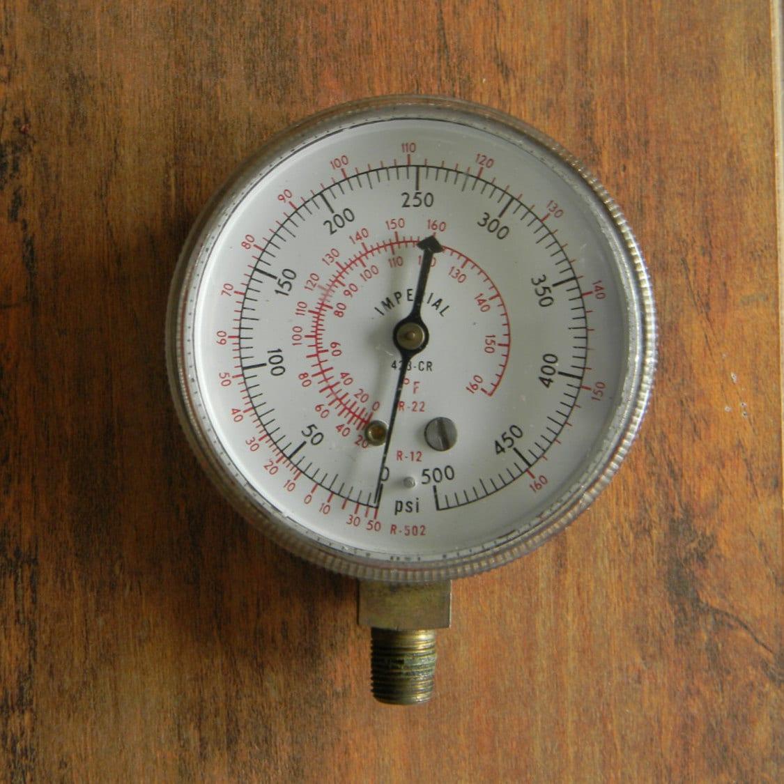 Vintage imperial pressure gauge for steampunk crafters - Steampunk pressure gauge ...