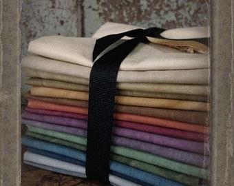 Fabric: Fat Quarter Bundle Aged Muslin Cloth (New)