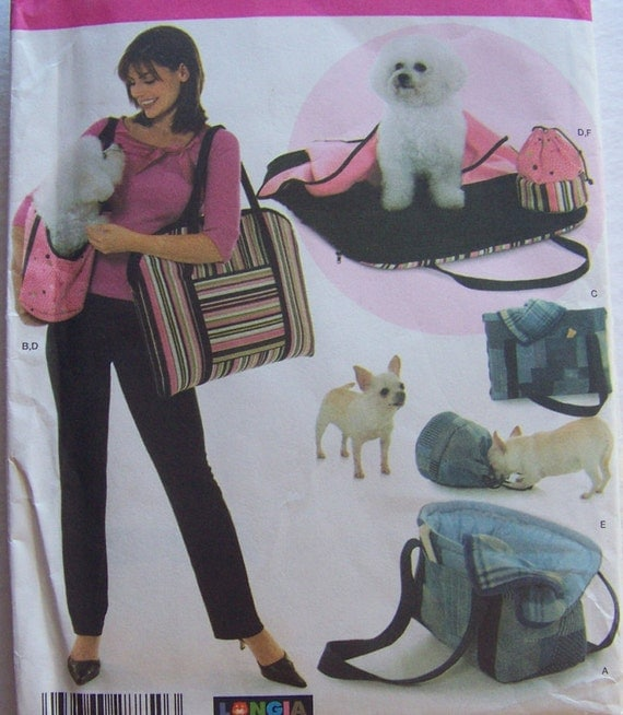 Way too cute! Puppy Dog Set Carrier Bag Bed Blanket Treat Bag Pattern Uncut