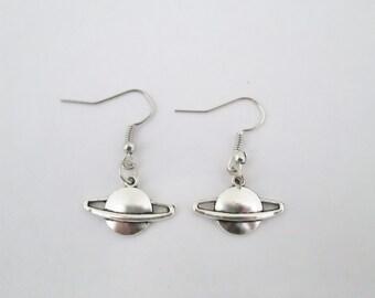 Planet Saturn earrings, saturn jewelry