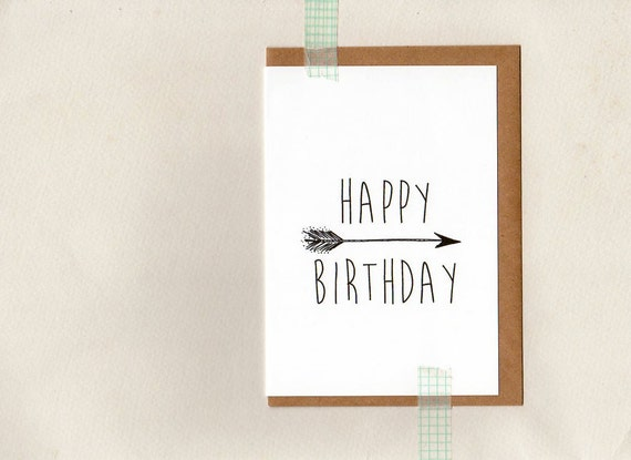 happy birthday greeting card arrow tribal fashion hipster – Hipster Birthday Cards