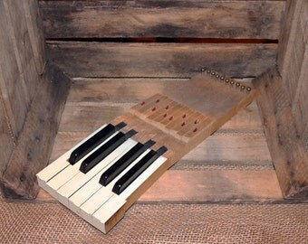 ... gift,piano organ gift,black and white,repurposing,upcycled music gift