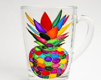 Pineapple Coffee Mug, Pineapple Decor Exotic Fruit, Tropical Wedding Gift Bridesmaid Mugs