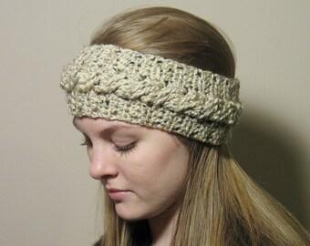 Cable Headband, Womans Headband, Crochet, Teen Girl Headband, Ladies Headband, Winter Headband, Ear Warmer, Fall Headband