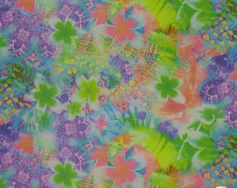 "Neon Floral Spandex Fabric SALE 4 Way Stretch Lycra Knit By The Yard 58""-60"" Wide"