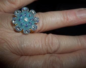 Blue Flower Ring - R8