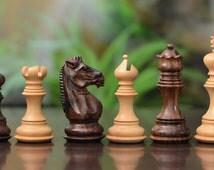 Wooden Handcarved Weighted Staunton Chess Set Shesham Wood 4 Queens. SKU: M0093