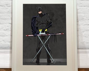 Batman Ironing Art Print