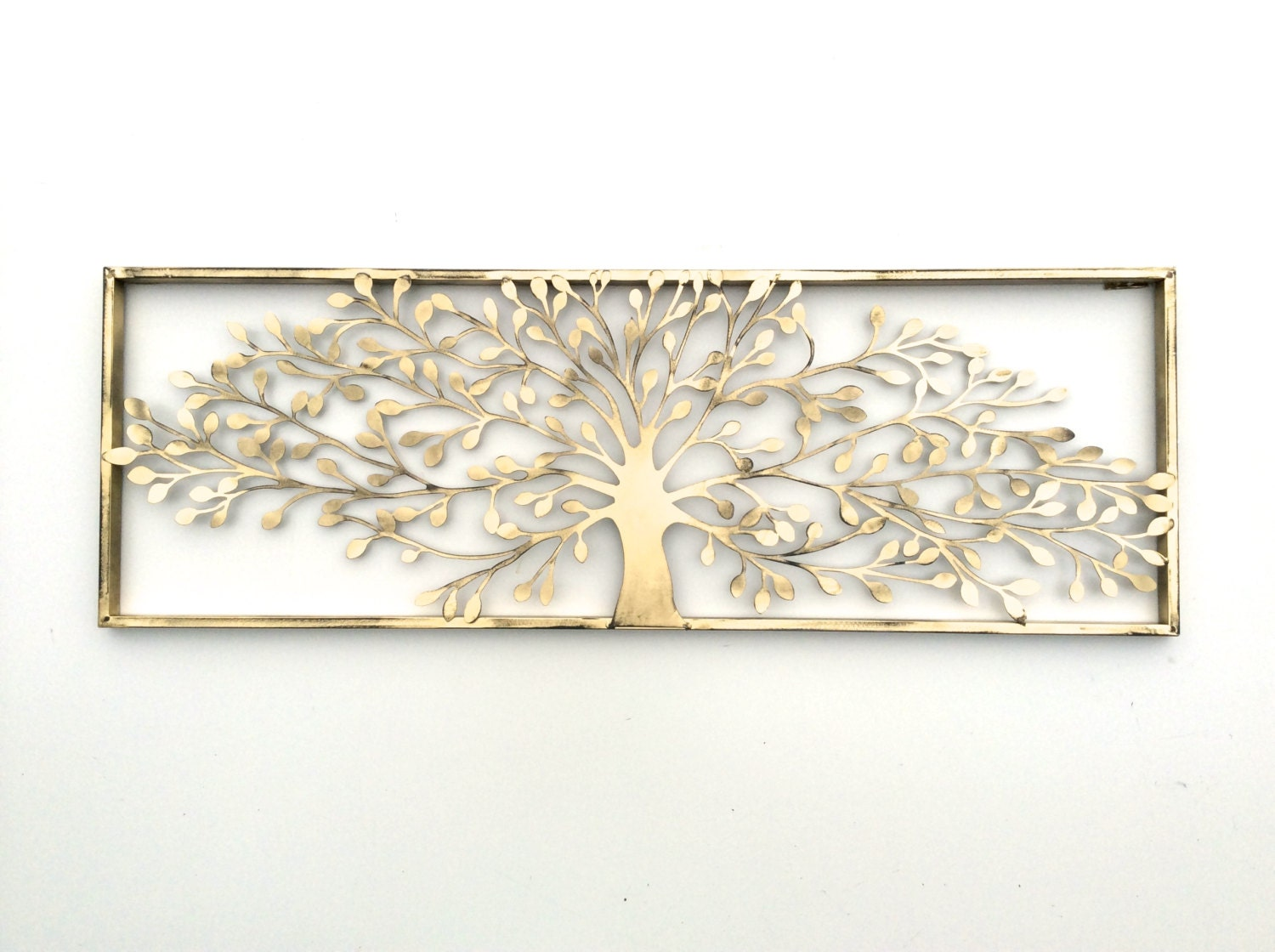 Metal wall art metal wall decor metal tree wall art tree for Deco metal mural