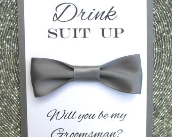 Will You Be My Groomsman card, Bow Tie, Bridal Party