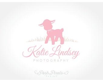 Logo Design (Premade) Animal Logo, Photography logo, Cute Logo, Lamb logo, Boutique Logo, Newborn Logo