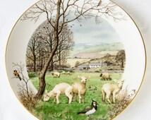 Peter Barett - January's Lambing Season - Royal Worcester Collectors Porcelain Plate