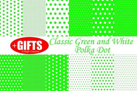 Green Polka dot digital paper lime Green polka dot party Green and White Classic Designs bright green polka dot fabric print Scrapbook paper
