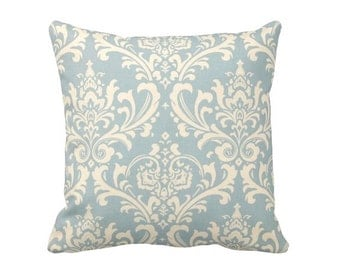 7 Sizes Available: Blue Throw Pillow Cover Blue Pillow Cover Damask Pillow Cover Blue Damask Pillow Light Blue Pillow Blue Cushion Cover