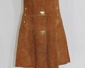 Rare / dress 1960 suede