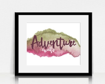 Adventure Awaits - Wall Art - Digital Instant Download