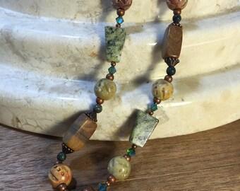 Swarovski and Soapstone Necklace