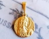 Medal - Saint Mary Magdalene 18K Gold Vermeil Medal - 18mm