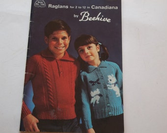 Childrens Sweaters Raglans  Beehive 104