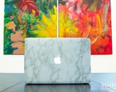 Marble MacBook Decals ~ Glamorous Faux-Marble Laptop Skins ~ Made in the USA