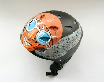 "Customized helmet - ""Crazy Vladimir"" personalized custom ski helmet  unique snowboard  painted helmet for paragliding"