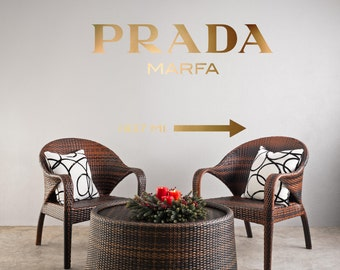 gold prada marfa gossip girl fashion logotypography art valentine 39 s anniversary birthday. Black Bedroom Furniture Sets. Home Design Ideas