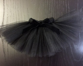 Parisian Black Dog Tutu with Velvet Bow ( Optional ) - Pet Tutu Costume - Halloween Tutu
