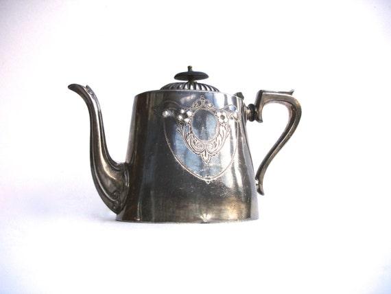 Art Deco Tea Pot Vintage Tea Pot EPBM Britannia Metal Tea Pot