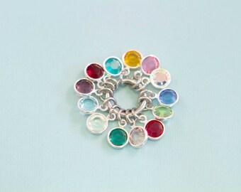 Add a Swarovski Birthstone Crystal - Hand Stamped Jewelry